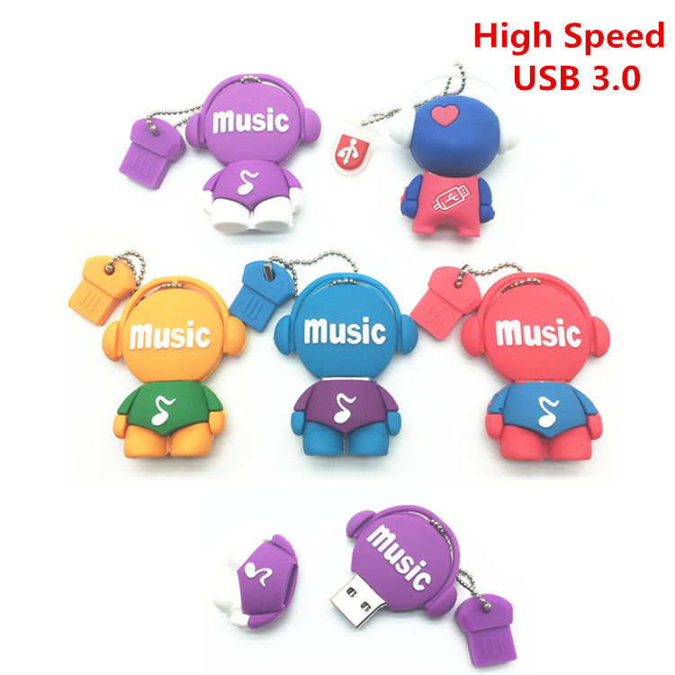 High Speed USB 3.0 PenDrive Cartoon 32GB Music Man USB Flash Drive 4GB 8GB 16GB Pen Drive Musician Flash Memory Stick U Disk