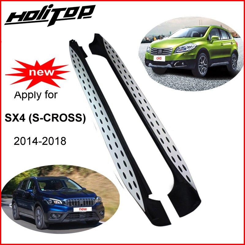 Chaude side step bar côté pédale marchepied pour Suzuki SX4 (S-CROSS) 2014-2018, nouvelle conception (BM et Ben style), incroyable effet