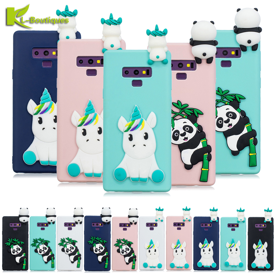 Note 9 Phone Cases on sFor Fundas Samsung Galaxy Note 9 8 Case Coque on for Samsung S9 S8 Plus S7 Edge 3D Cute Protection Cover