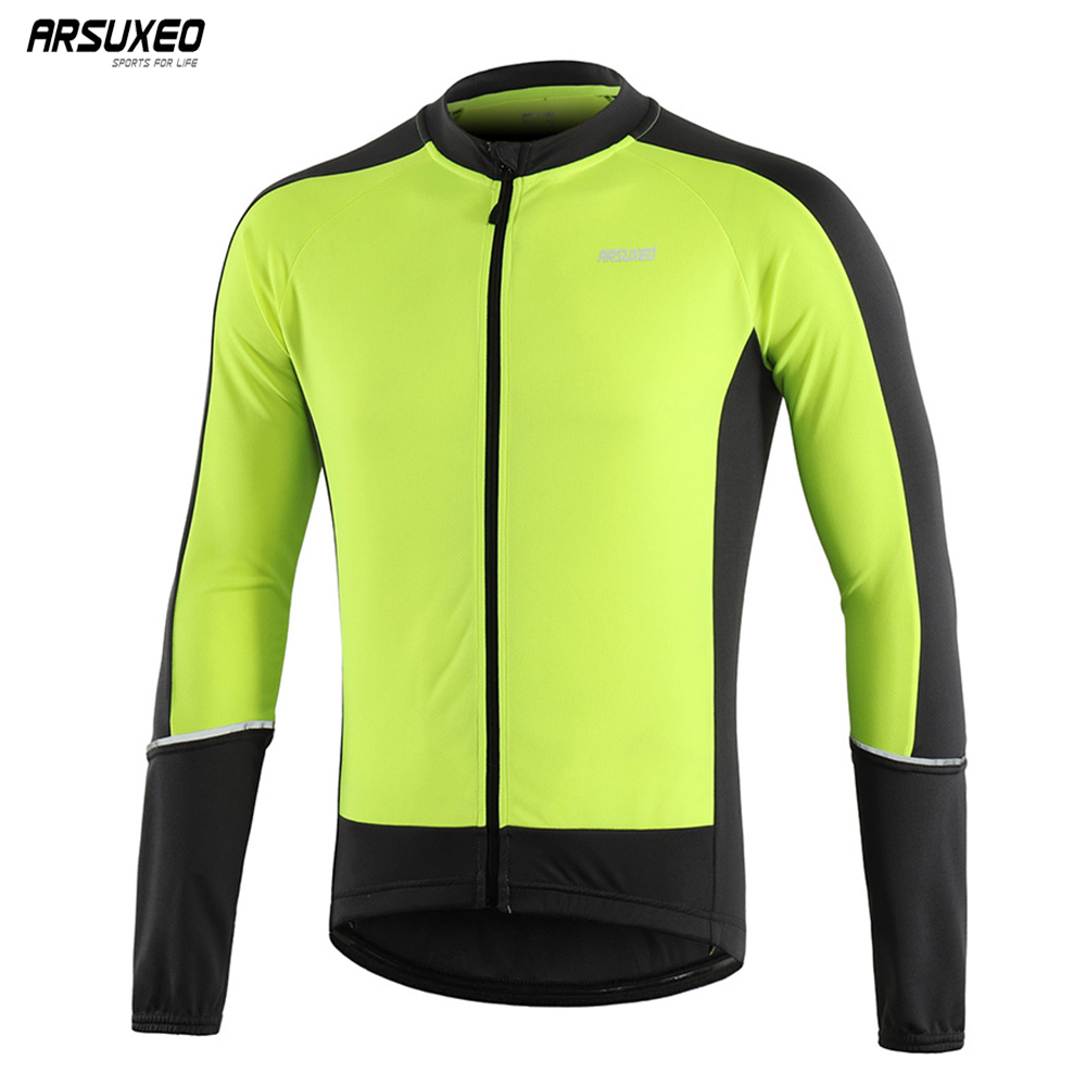 ARSUXEO 2019 Men Long Sleeve Cycling Jersey Spring Autumn Downhill MTB Mountain Bike Shirts Bicycle Clothing Quick dry 6033