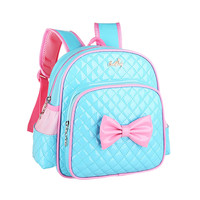 2017 very popular Baby Kids Girls Bowknot Print Backpack School Bags Fashion Shoulder Bag wholesale A2000