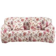 Blumendruck Sofa Abdeckung Tuch Couch Cover Spandex Stretch schonbezug fundas sofas de dos y tres plätze Für Wohnzimmer zimmer