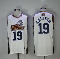 White Basketball Jerseys Aaliyah Number 19 Jersey Mens Bricklayers Sixth Annual Rock N Jock B Ball