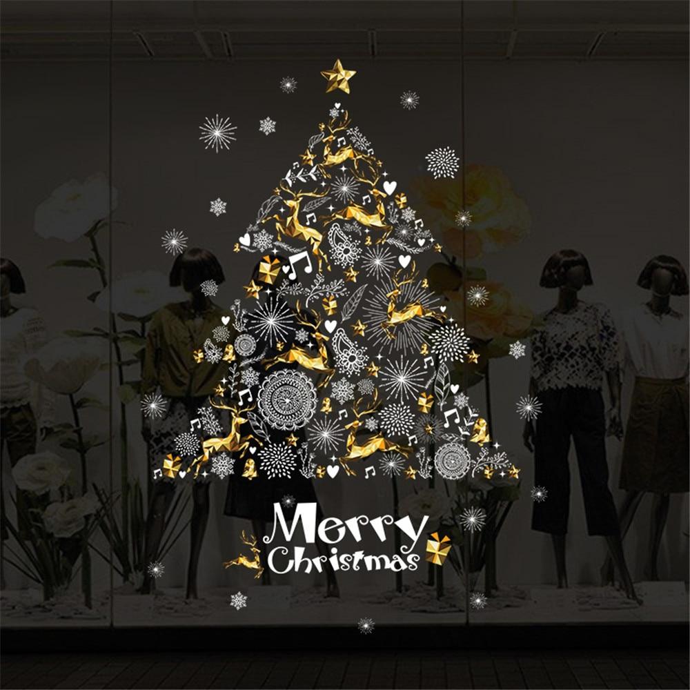 2018 vinyl wanddecoratie vrolijk kerstfeest muurstickers for Decoratie 2018