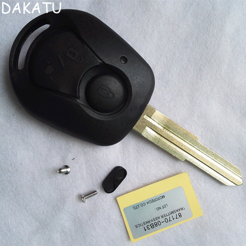DAKATU REPLACEMENT Remote Key Case For SSANGYONG Actyon Kyron Rexton Shell Cover Fob 2 Button Uncut