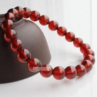 Titanium natural crystal orange red garnet bracelet beauty stone iron