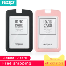 Купить с кэшбэком Reap Silicon Exhibition Cards ID Card Holder Name Tag Staff Business Badge Holder Office Supplies Stationery
