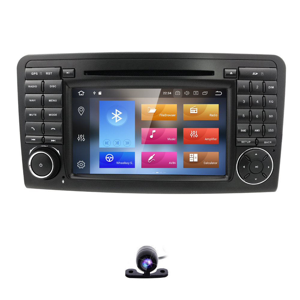2 din AutoRadio Android 8.0 GPS Car Multimedia DVD player For Mercedes Benz ML GL CLASS W164 ML350 ML500 X164 GL320 Stereo Wifi цена
