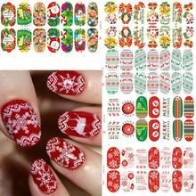Nádherné vánoční samolepky na nehty – 11 druhů