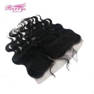 Image 5 - Extensiones de cabello humano ondulado con encaje Frontal brasileño, 13x4, Berrys, prearrancados