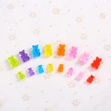 40 шт. Конфета из смолы gummy bear для поделок брошь серьги украшения