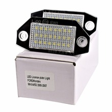 HengChiLun 2X LED License Plate Light for Ford Mondeo MK3 No Error Number Lamp Bulb Car Assembly