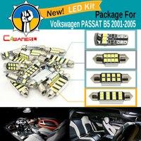 Cawanerl 2835 Carro Canbus LEVOU Kit Branco Para VW Volkswagen PASSAT B5 2001-2005 Auto Interior Dome Mapa Tronco de Iluminação Da Chapa de Licença lâmpada