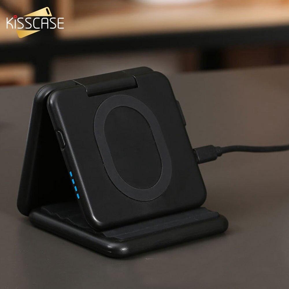 KISSCASE batterie externe batterie externe support de chargeur chargeurs sans fil pour iPhone Samsung Xiaomi pour téléphone Powerbanks universels