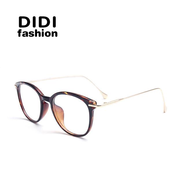 DIDI Anti Rayos Azules Mujeres Leopardo Vidrios Ópticos TR90 Marco de Anteojos de la Computadora gafas Estilo Retro de Gran Tamaño Gafas de Sol U581