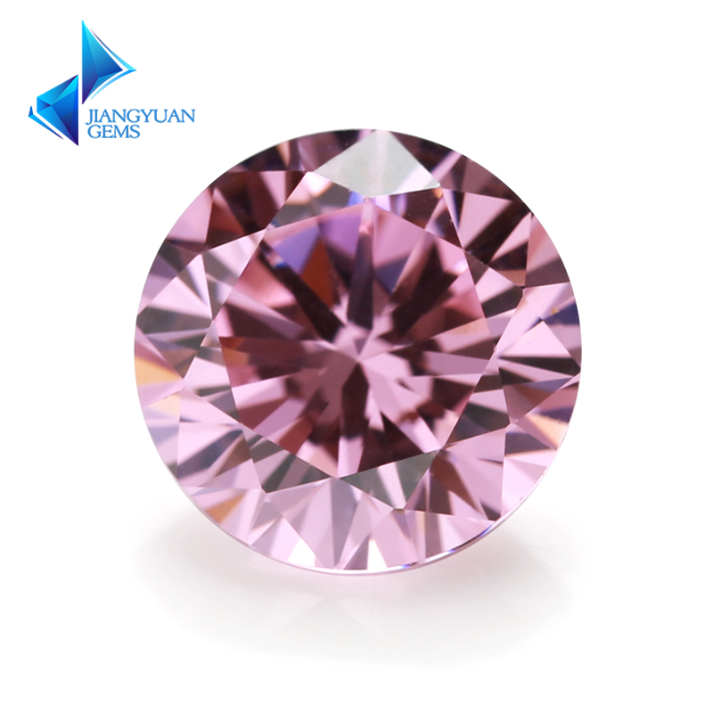 3~16mm wholesale 5A cz stone brilliant round cut pink cz stone for sale