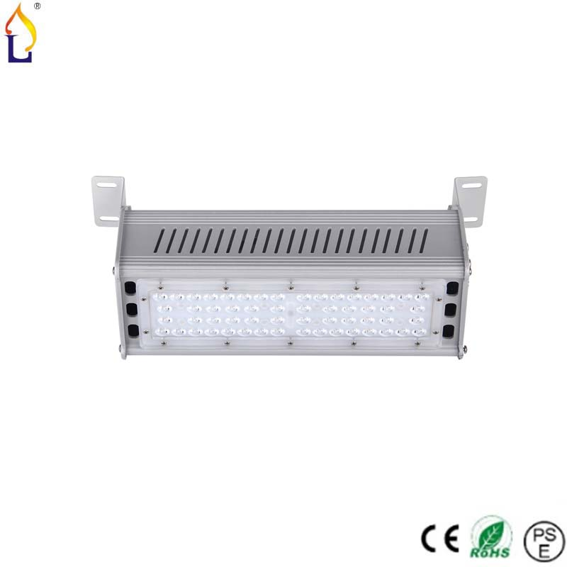 6pcs/lot free shipping 50W CRI80 high brightness hot sale  linear led high bay light AC100-277V square high bay light free shipping cri 90
