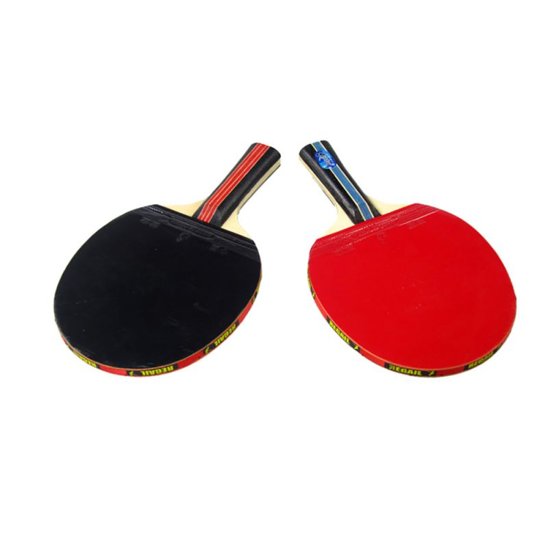 Table Tennis Rackets Long Handle Shake Hand Table Tennis Racket Ping Pong Paddle + Water Dichte Pouch Rode 1 Piece