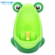 Babyyuga Cute Boy Baby Child Cartoon Animal Frog Shape PP Standing Urinal Learning Training Children Stand Vertical Urinal Boys