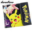 Faddish Brand Anime Cartoon Wallet Poke Pocket Monster Pikachu Purse Two/Three Fold Wallets