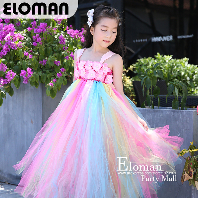 e19233eac Eloman 100% handmade tutu dress for girl birthday party princess ...