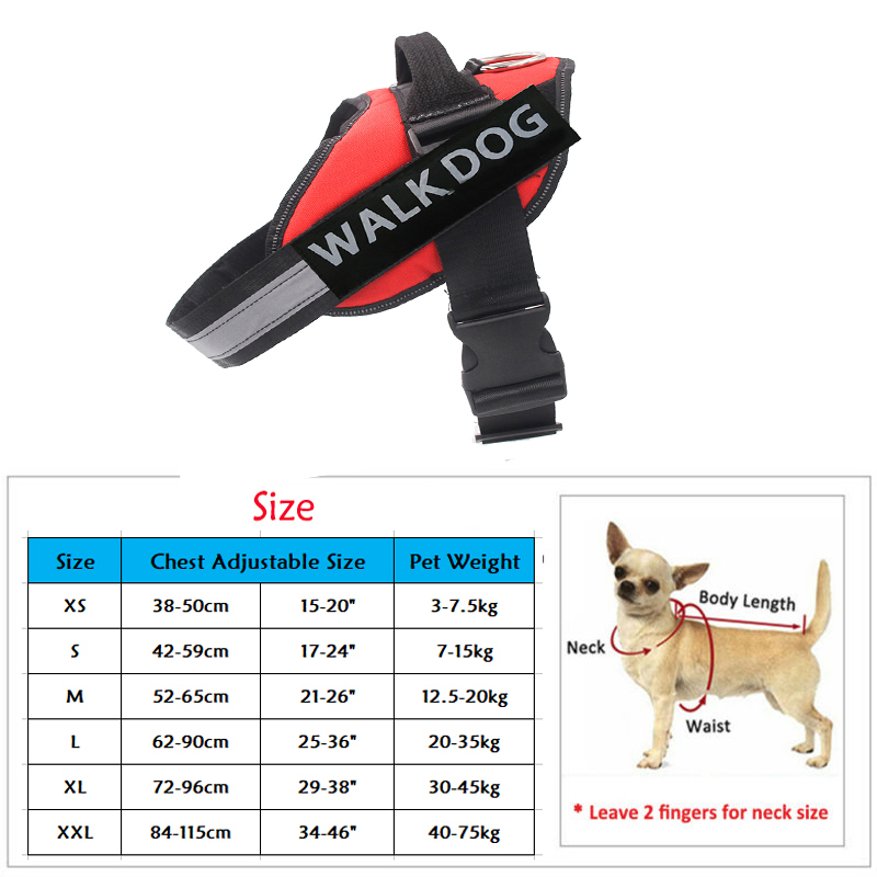 Dog Harness Breathable Pet Harness Vest Dog Collars for Small Medium Big Dog Nylon Dog Lead Belt Pitbull Bull Terrier Rottweiler16 -