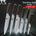 Cuchillos de cocina XYj, venas de Damasco, cuchillos de acero inoxidable, juego de cuchillos de cocina de alta calidad 2 * Santoku
