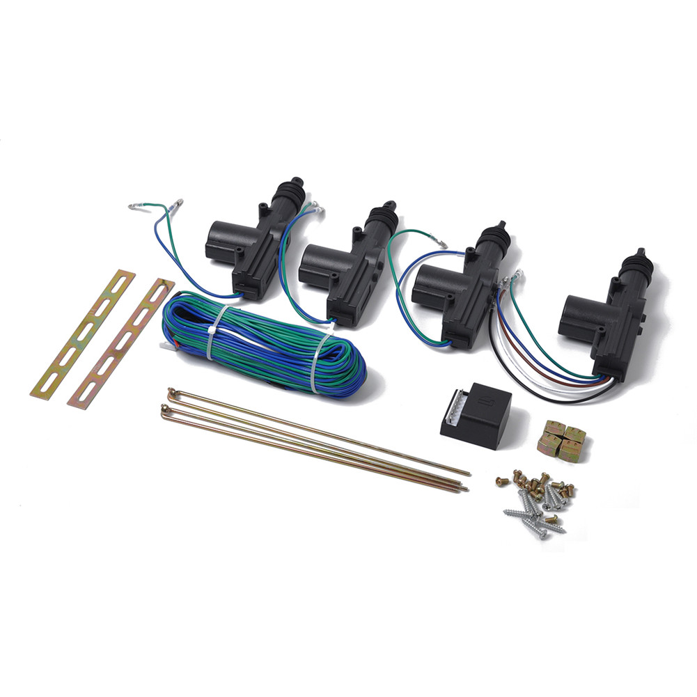 medium resolution of 12v 4 universal power door lock actuator kit 2 wires 5 wires auto dc linear actuator wiring schematic 5 wire actuator wiring