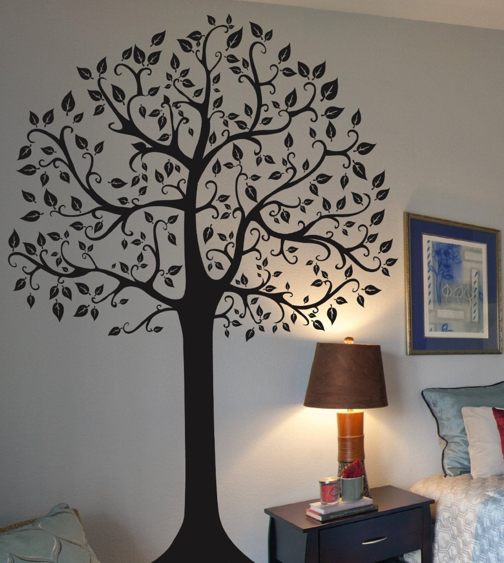 large family tree wall sticker fashion home decoration modern tree  - large family tree wall sticker fashion home decoration modern tree walldecals beautiful adhesive vinyl wall art tree muralsin wall stickers fromhome