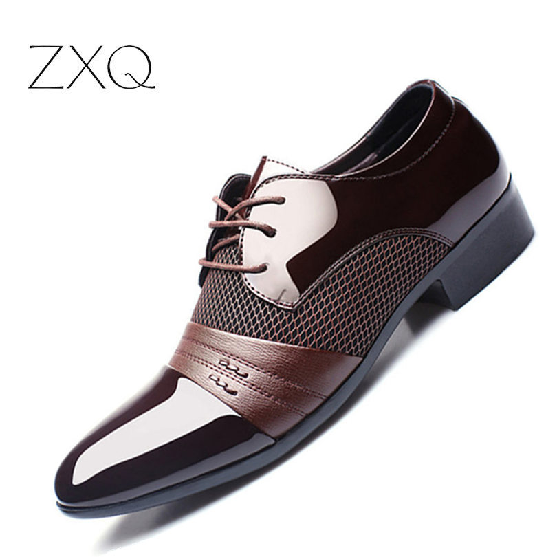 Formal Shoes Summer Mesh Spring Leather Dress Shoes Breathable Men Formal Business Oxfords Plus Size 38-48 For Sale Men Dress Shoes