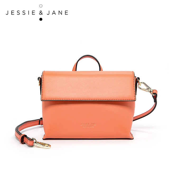 JESSIE & JANE Designer Brand Fashionable Split Leather Women Messenger Bags Shoulder Bag Handbags Michael Hors Handbag 1736