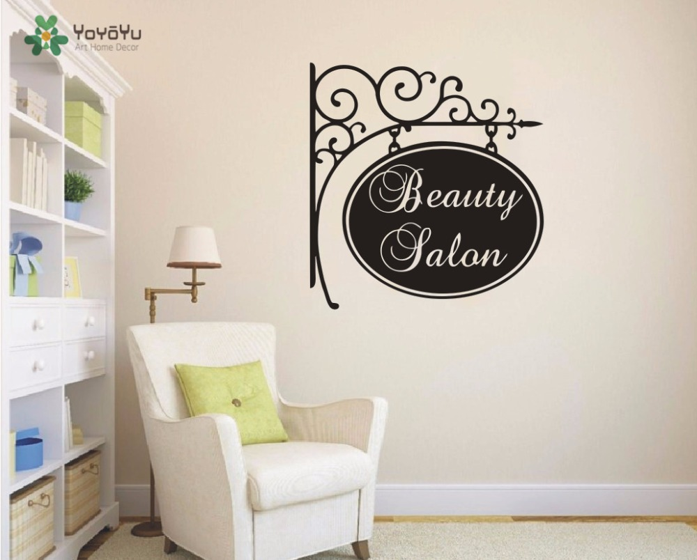 Decoration Beauty Salon Wall Decals Hairdressing Decal Haircut Salon
