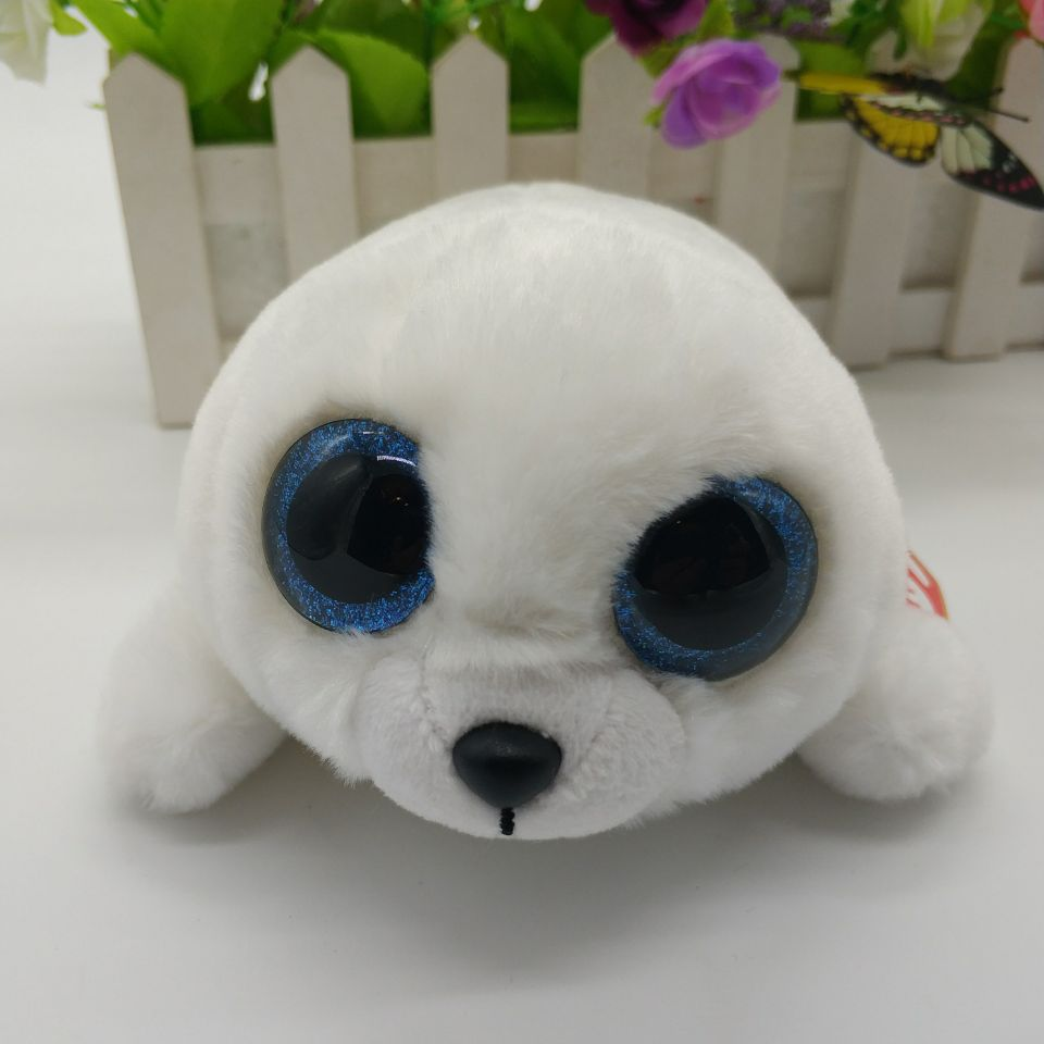 cab91482d11 15CM ICY White seal with tag label TY BEANIE BOOS BIG EYES Plush Toys  Stuffed animals Children day toy christmas gift-in Stuffed   Plush Animals  from Toys ...