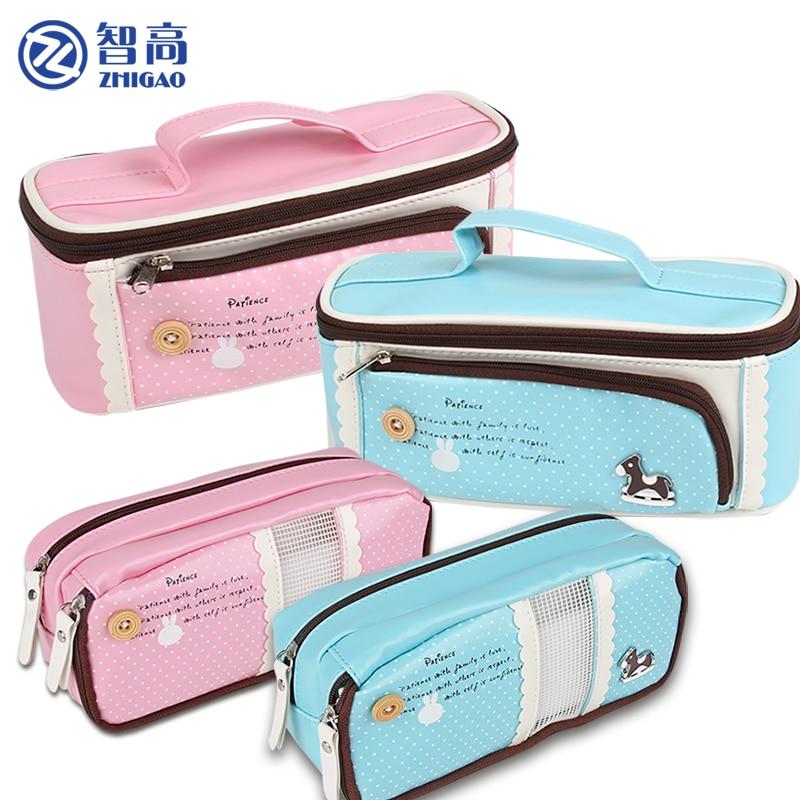 Чжигао школьные принадлежности и канцелярские принадлежности пенал канцелярские карандаш сумка для Обувь для девочек милые многофункцион...