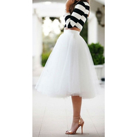 Tutu Homecoming Skirt Graduation Party Tutu Soft Tulle Cheap Simple Party Skirts Multicolor Tulle Layer