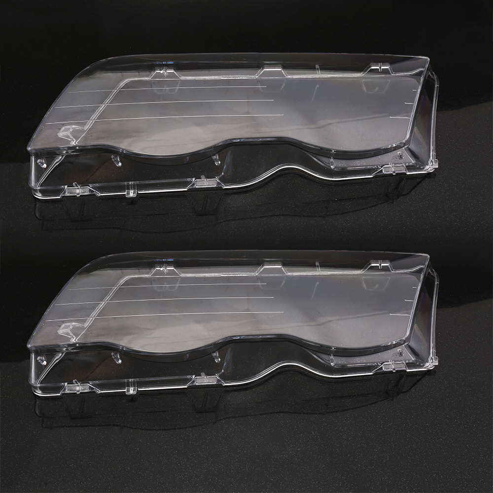 2 Pieces Car Headlight Glass Cover Clear 4 Door Automobile Left Right Headlamp Head Light Lens Covers Styling For BMW E46 98-01