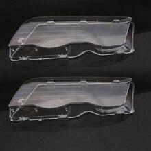 2Pcs Auto Scheinwerfer Glas Abdeckung Für BMW E46 98 01 Klar 4 Türen Automobil Links Rechts Scheinwerfer Auto nebel Licht Objektiv Deckt Styling