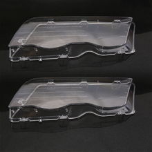 2Pcs Car Headlight Glass Cover For BMW E46 98 01 Clear 4 Doors Automobile Left Right Headlamp Car Fog Light Lens Covers Styling
