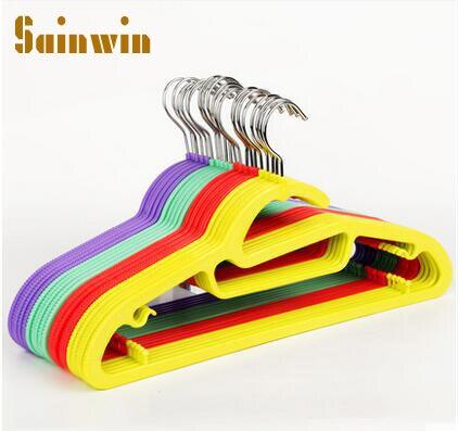 Sainwin 20 шт./лот 42 см вешалки для одежды скольжению взрослых Пластиковые вешалка влажные и сухие вешалка