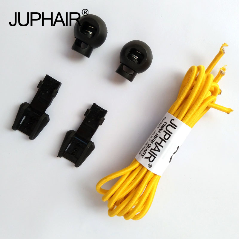 JUP 1-50 Pairs Yellow Colored Shoe Laces for Children Fashion Elastic Rubber Adjustable Shoelaces Fashion Lazy Shoelace Strings jup 50 pairs sneaker shoelaces skate boot laces outdoor sport casual multicolor bumps round shoelace hiking slip rope shoe laces