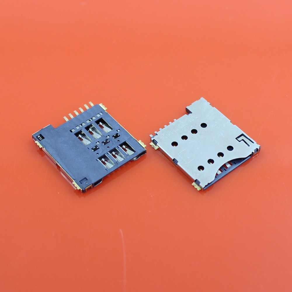 JCD 17*15.5*1.4mm Mikro SIM kart tutucu Yuvası Tepsi Okuyucu Konektörü 6 P 6Pin Kendinden Için Itin cep telefonu