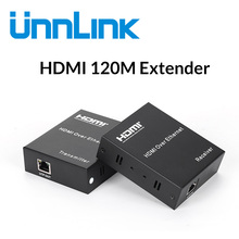 Unnlink HDMI Extender 120M FHD1080P@60 Over IP/TCP UTP/STP CAT5e/6 Rj45 LAN Network Extension Ethernet HDMI Splitter for tv box