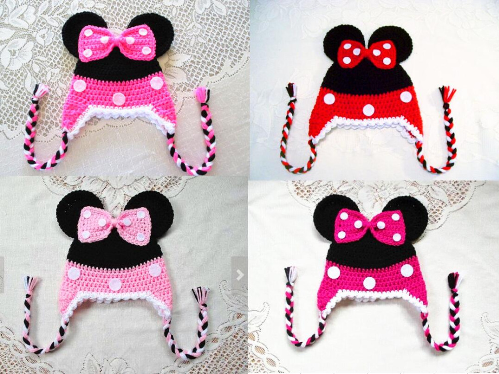 Famoso Patrón De Sombrero Del Ganchillo Libre De Minnie Mouse ...