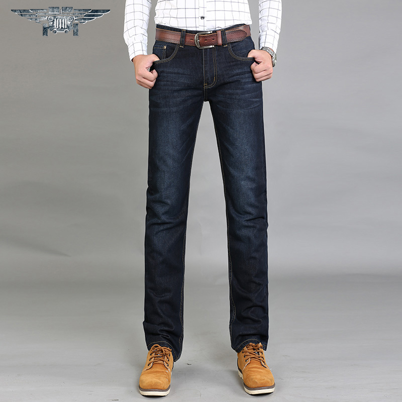 Hot market The New 2016 Jeans Men's Business Jeans Breathable Loose Water Straight Canister # JP8004 # the vietnamese market cookbook