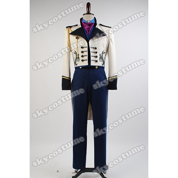 Hans Cosplay Costume White Hans Costume Mens Costume