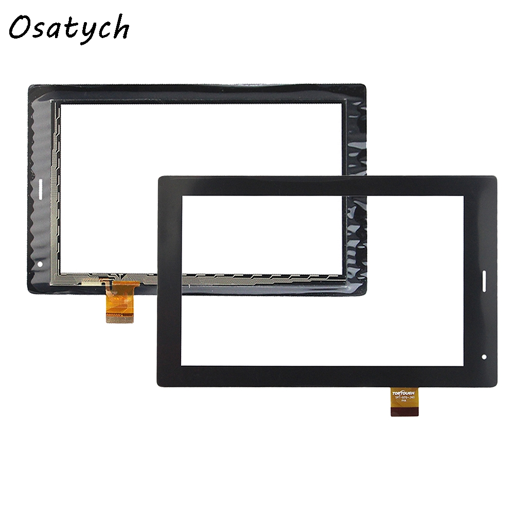 Black New 7inch Touch Screen Glass Panel for TPT-070-360 TPT 070 360 Repair Touch Panel 10pcs lot new 7 tablet tpt 070 179f tpt 070 134 pb70a8508 touch screen digitizer panel sensor glass replacement free shipping