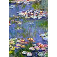 Modern oil painting on canvas Water Liliesdetails Claude Monet stretched handmade landscape art wall home decor