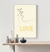 kiss Love Poster Art Canvas Painting Posters and Prints Picture for Room art decor