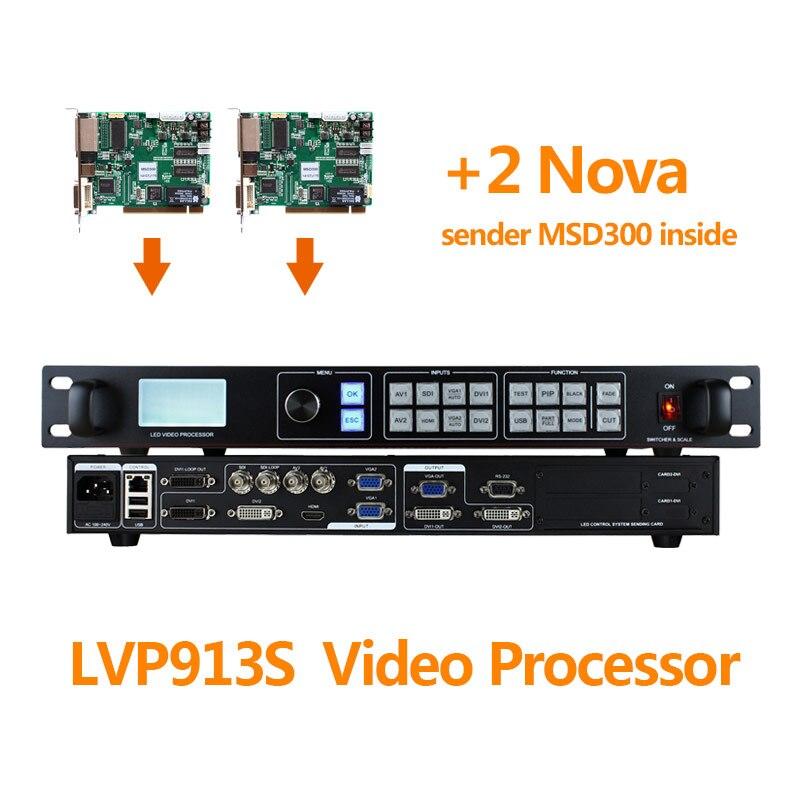 AMS-LVP913S comparer VDWALL LVP605S LED processeur vidéo d'écran de location avec 2 Nova MSD300 LED carte d'envoi pour affichage à matrice de LED