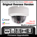 Oem ds-2cd2142fwd-is (2.8mm) câmera de rede hikvision inglês 4mp câmera de segurança cctv camera onvif poe câmera ip ip67 hik p2p hd
